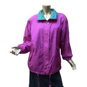Vintage Pacific Trail Hot Pink Jacket Size Small (Fits Medium) Zip Front 80s-90s